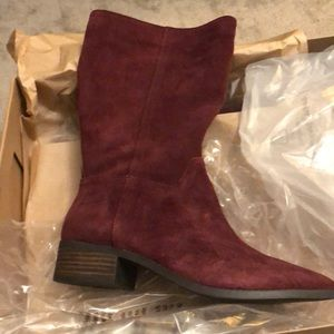 NWT Lucky Brand burgundy red boots
